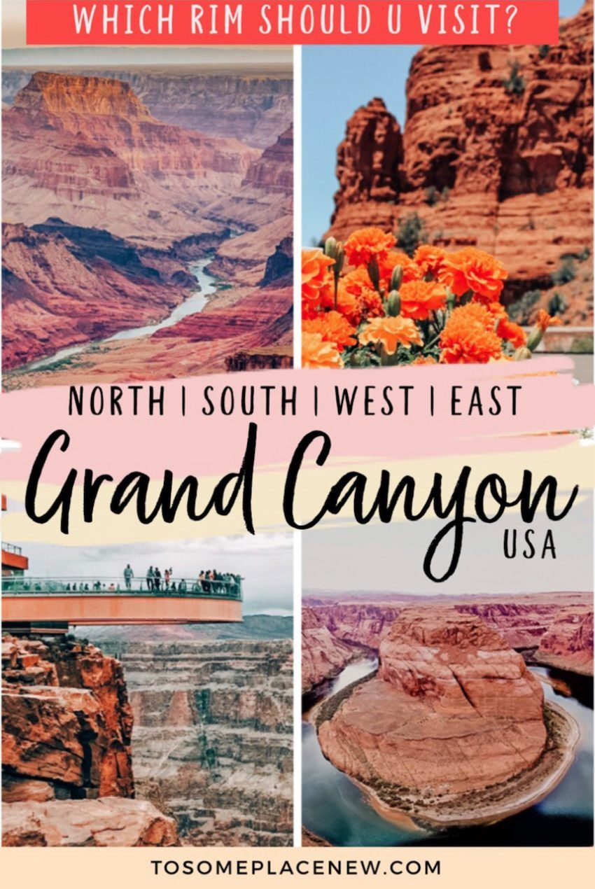 Grand Canyon North Rim vs South Rim: Tours & Day Hikes - tosomeplacenew