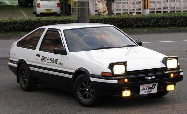 Takumi's AE86 Initial D | Initial D | Toyota corolla, Ae86