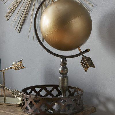Cole Grey Metal Globe Decor Globe Home Decor