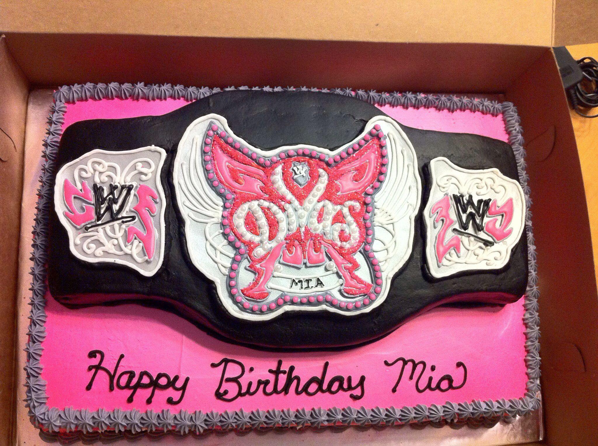 Wwe Divas Championship Belt Cake Wwe In 2018 Pinterest Wwe