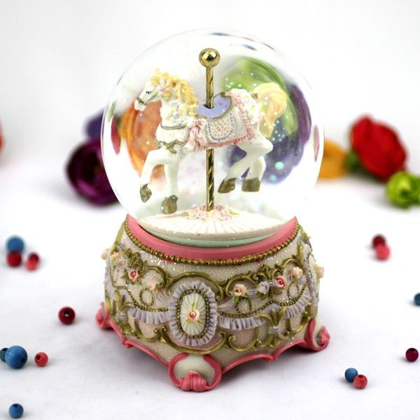 Carousel horse musical water ball musical carousel availble personalised custom gifts unique gifts australia new zealand negle Images