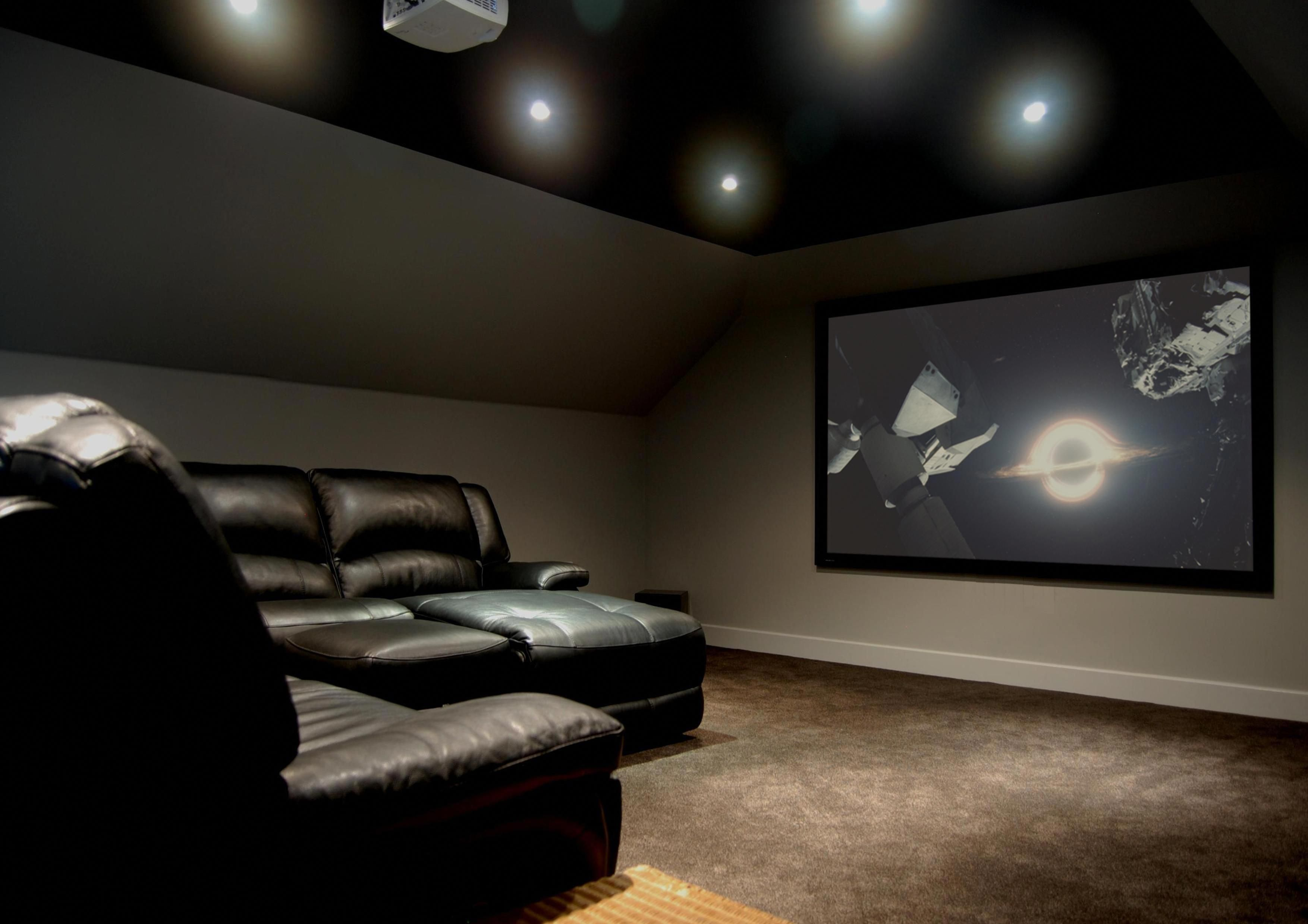 Setup With Home Theater Seating Home Theater Setup Home Cinema Systems Attic Rooms