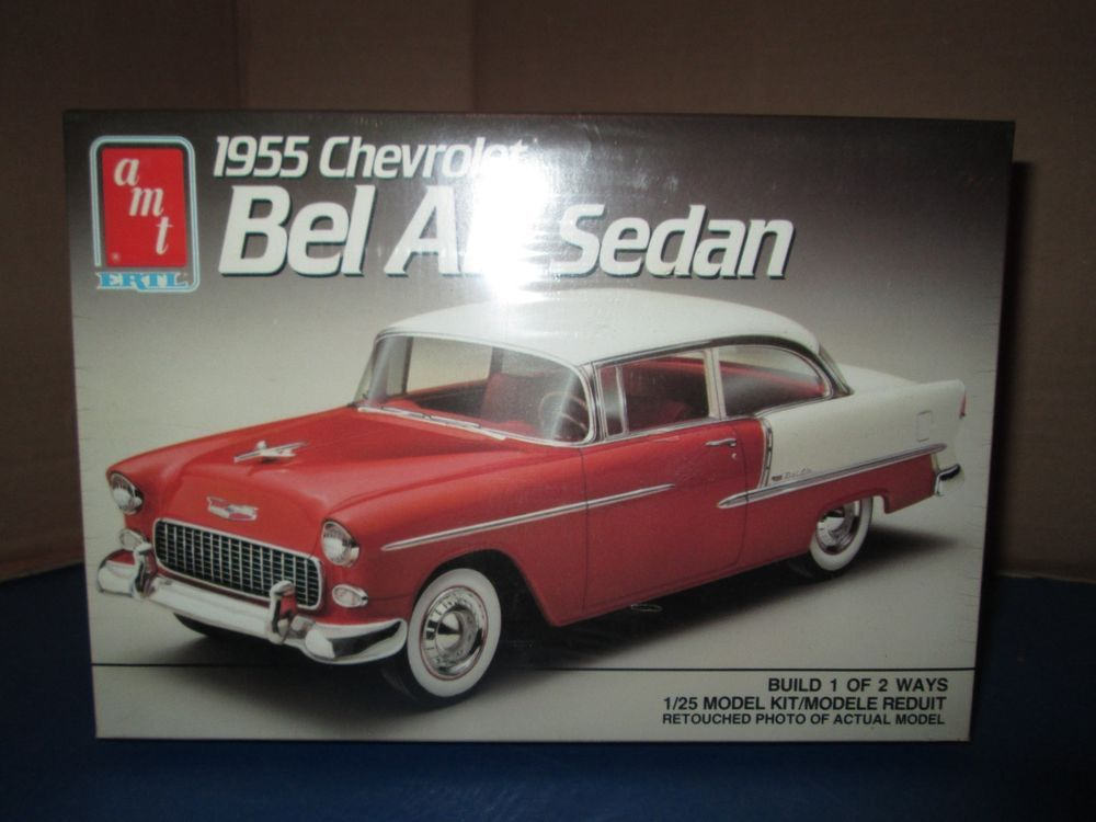 Amt Ertl 1955 Chevrolet Bel Air Sedan Model Kit 6771 Sealed 1 25