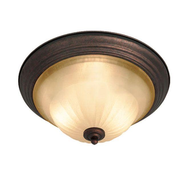 Woodbridge Lighting Clifton 2-light Marbled Flush Mount