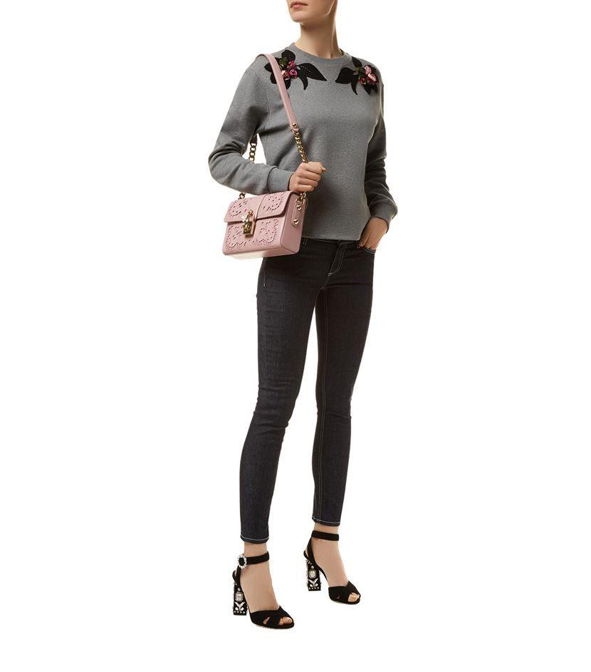 Dolce & Gabbana Flower Appliqué Cotton Sweatshirt | Harrods.com