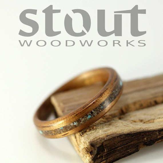 Stout Woodworks on Etsy...gorgeous rings.