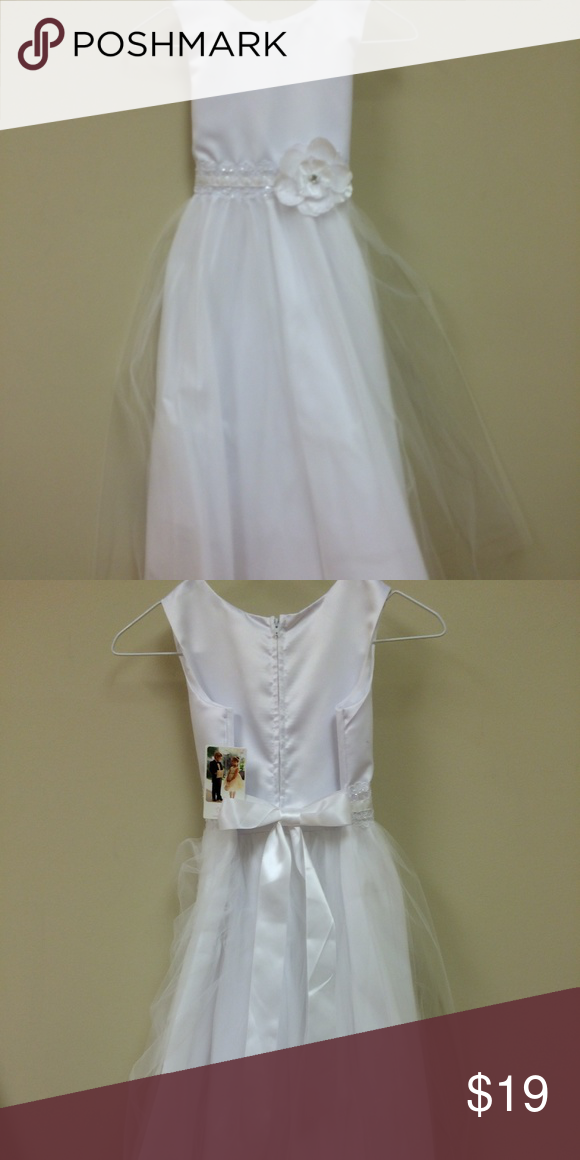 37f63247e401 Tip Top Kids First Communion Dress 5633 White Tip Top Kids First Communion  Dress 5633 White