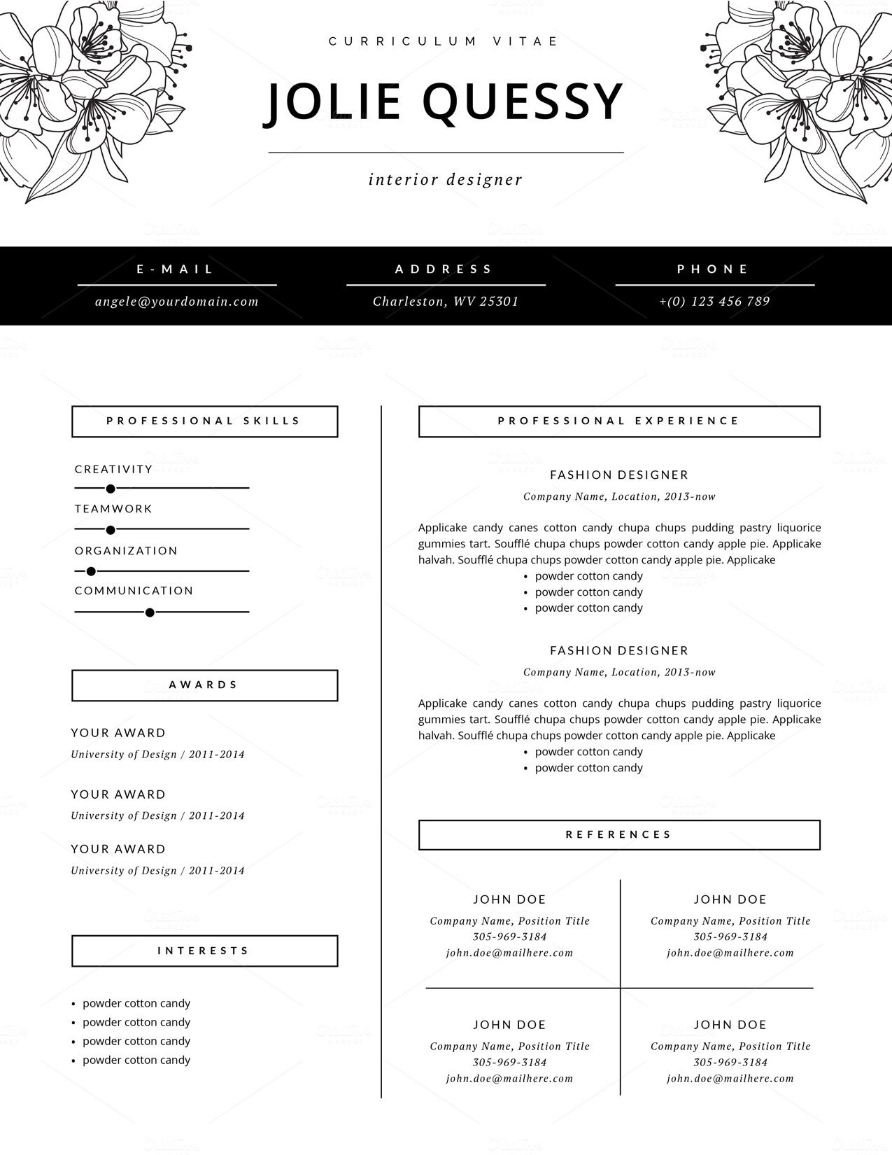 Fashion Resume New Wiring Resources 2019