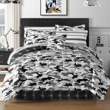 Cadet Camo Complete Bedding Set With Sheets And Accessories Complete Bedding Set Bed Comforters Comforter Sets