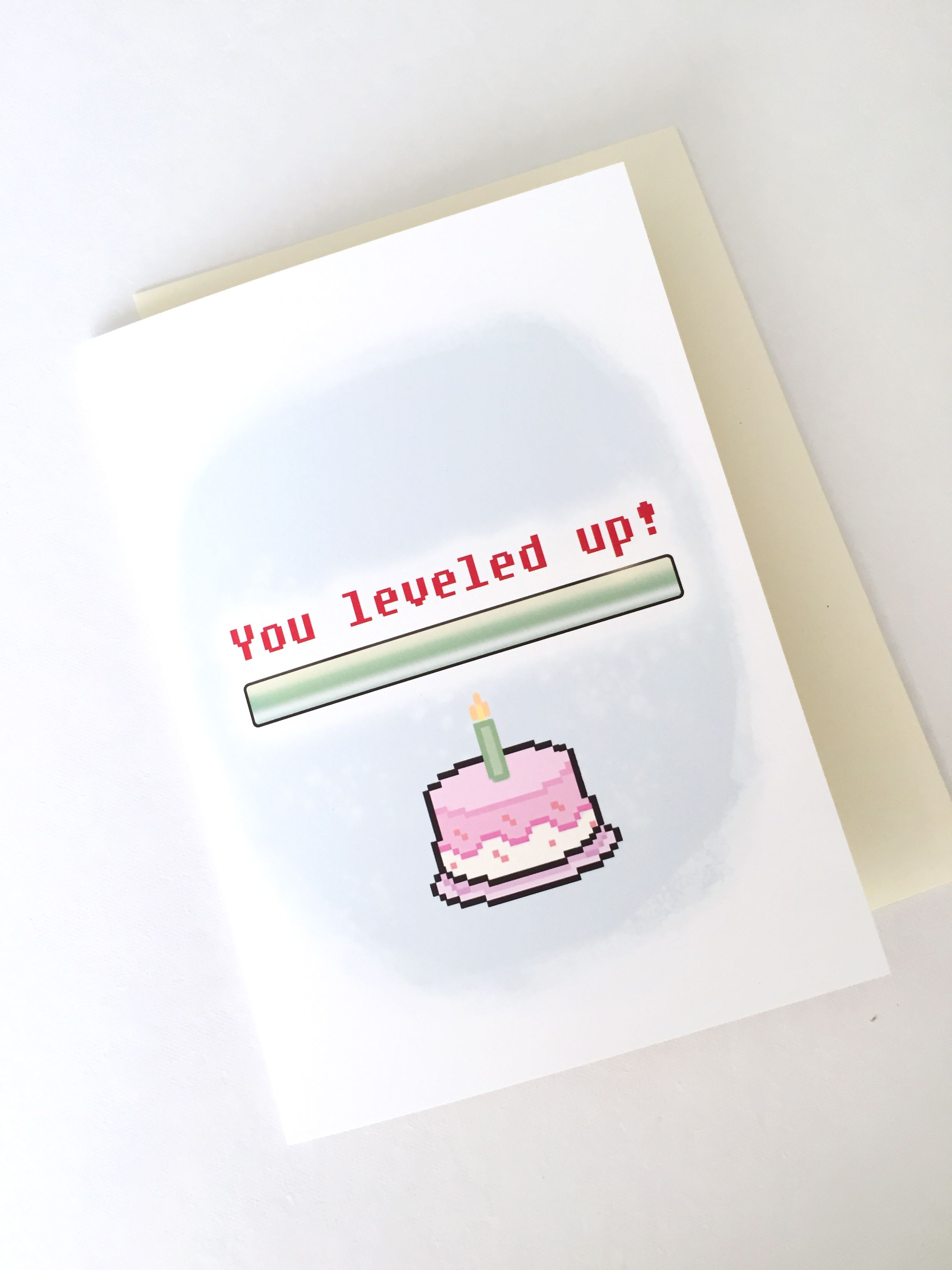 Level Up Birthday Card Geeky Birthday Card Gamer Greeting