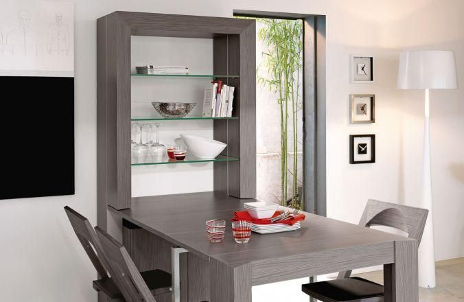 Convertible Dining Table   Ebony Gautier table dissappears into ...