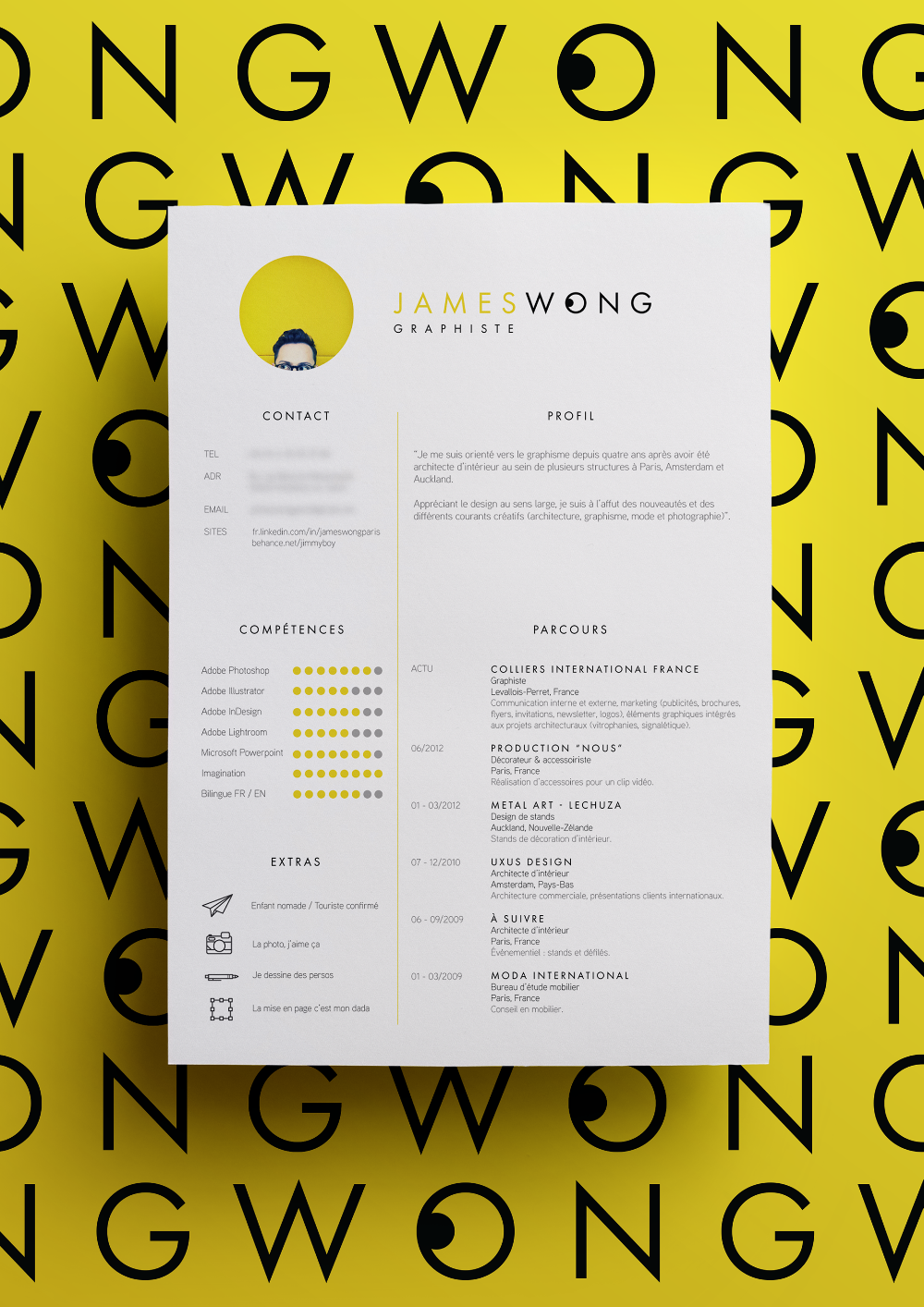 Curriculum Vitae On Behance If You Like This Cv Template Check Others On My Cv Template Board Thanks In 2020 Graphic Design Resume Graphic Design Cv Resume Design