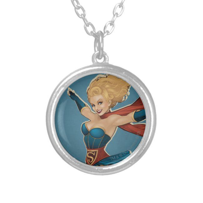 Supergirl Bombshell Silver Plated Necklace ,