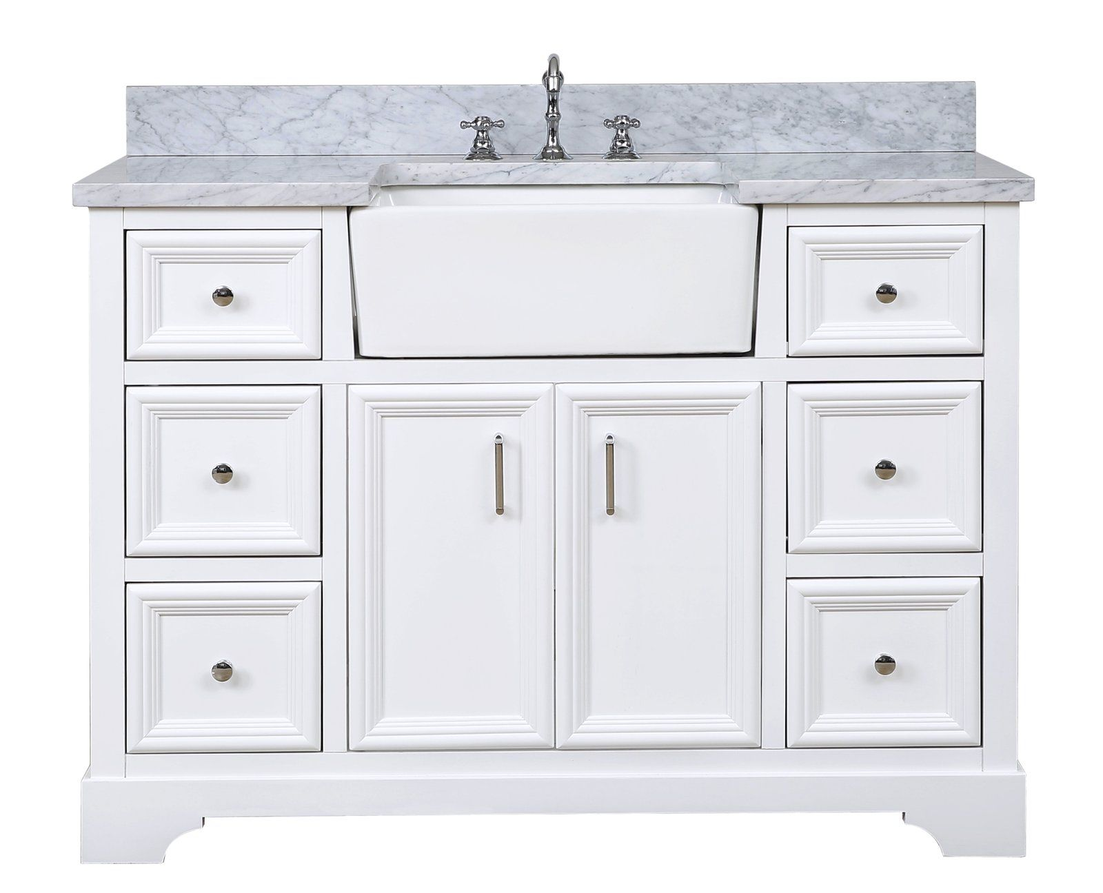 Zelda 48inch Farmhouse Vanity (Carrara Marble) in 2020