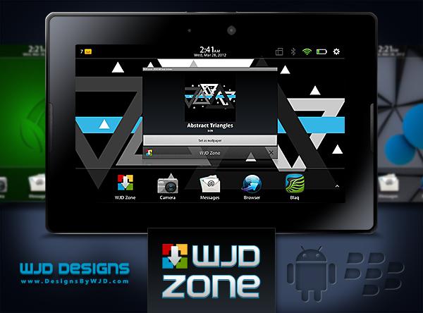 Trickin out my PlayBook!! WJD Zone for BlackBerry PlayBook by WJD