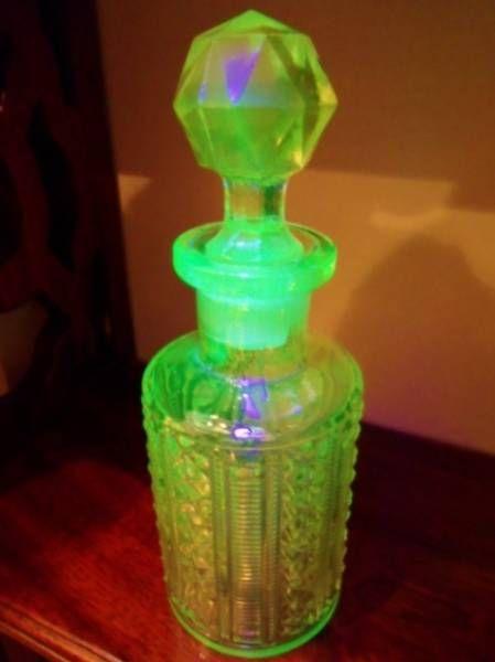アンティークウランガラスコロンボトル香水瓶Lレア Antique glass bottles ¥9000円 〆03月23日