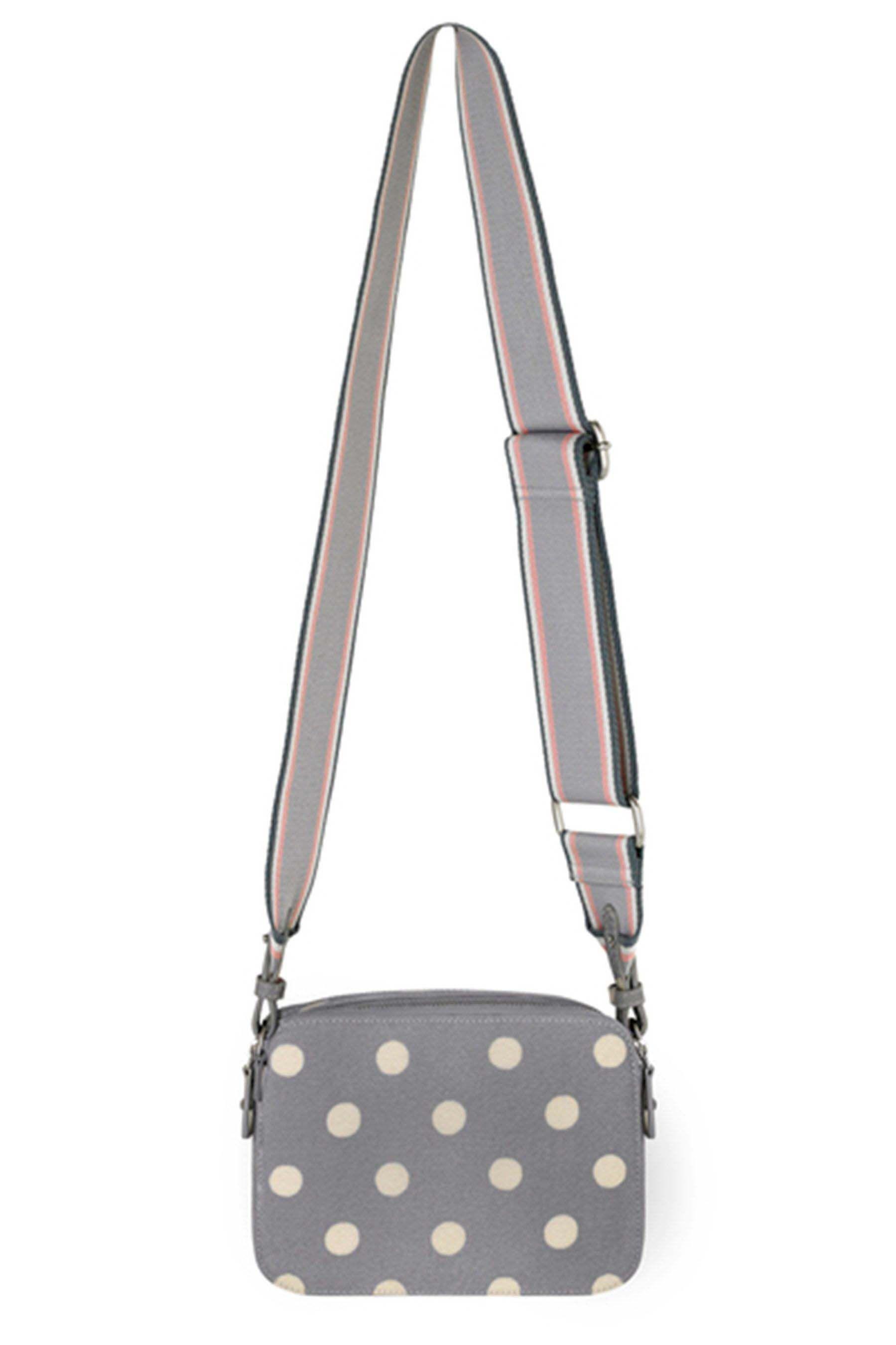 7f8b63e4b540 Womens Cath Kidston Grey Button Spot Webbing Lozenge Cross Body Bag - Grey