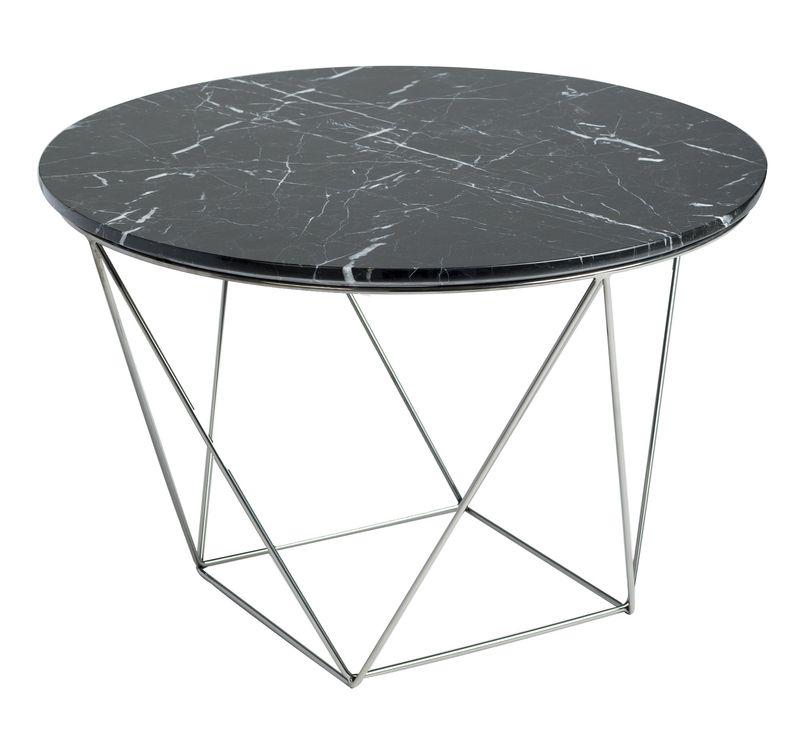 Tremendous Valencia Round End Table Black Marble Polished Stainless Inzonedesignstudio Interior Chair Design Inzonedesignstudiocom