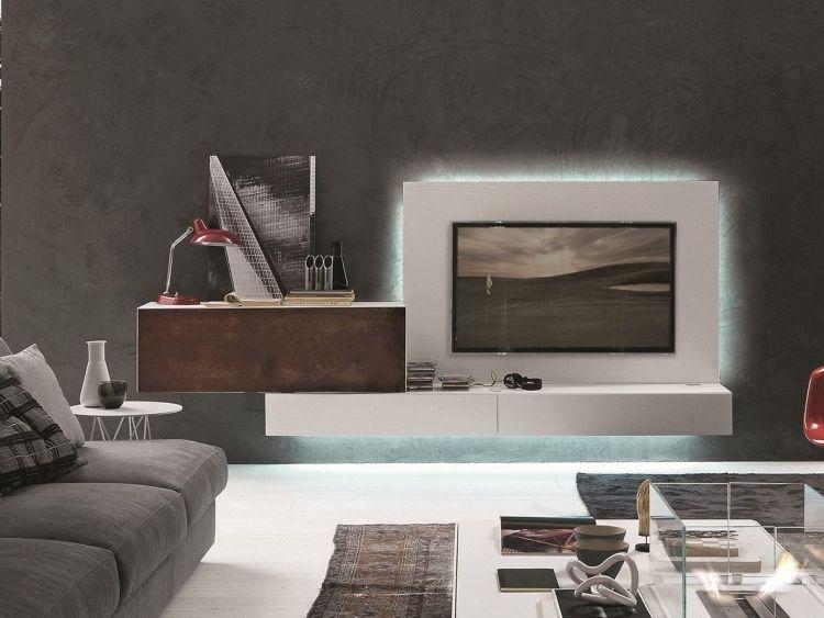 Weise Wohnwand Mit Led Beleuchtung : Weise Wohnwand Mit Led Beleuchtung : Moderne  Wohnwand Mit LED .