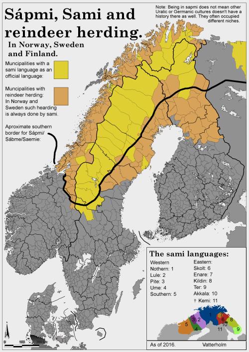 Mapsontheweb Norway Finland Sami