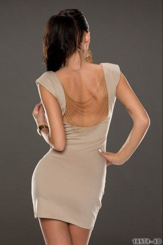 bdfe6a19313 Sexy εξώπλατο μίνι φόρεμα - Μπεζ | Φορέματα | Dresses, Fashion, Sexy