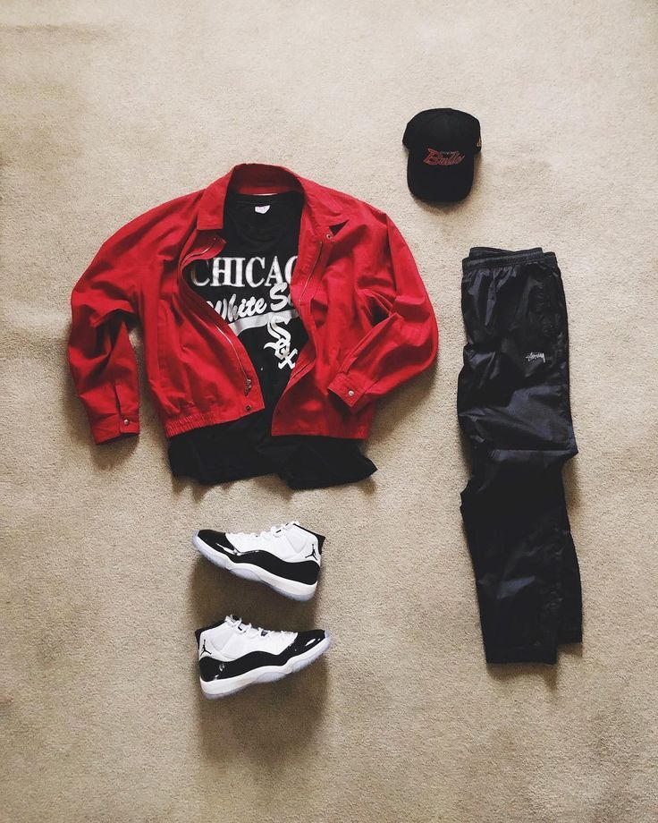 "� on Instagram: ""& they say chi-city � ️#KillTheHype #Snapback ️#Thrifted #Jacket ️#Vintage #WhiteSox #Tee ️#Stussy #TrackPants ️#JordanXI #Concord…"""