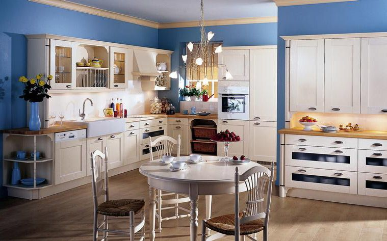 Attractive Country Kitchen Ontario Or Part - 10: French Country Kitchen White Cabinets And Blue Walls | BETSY Manning