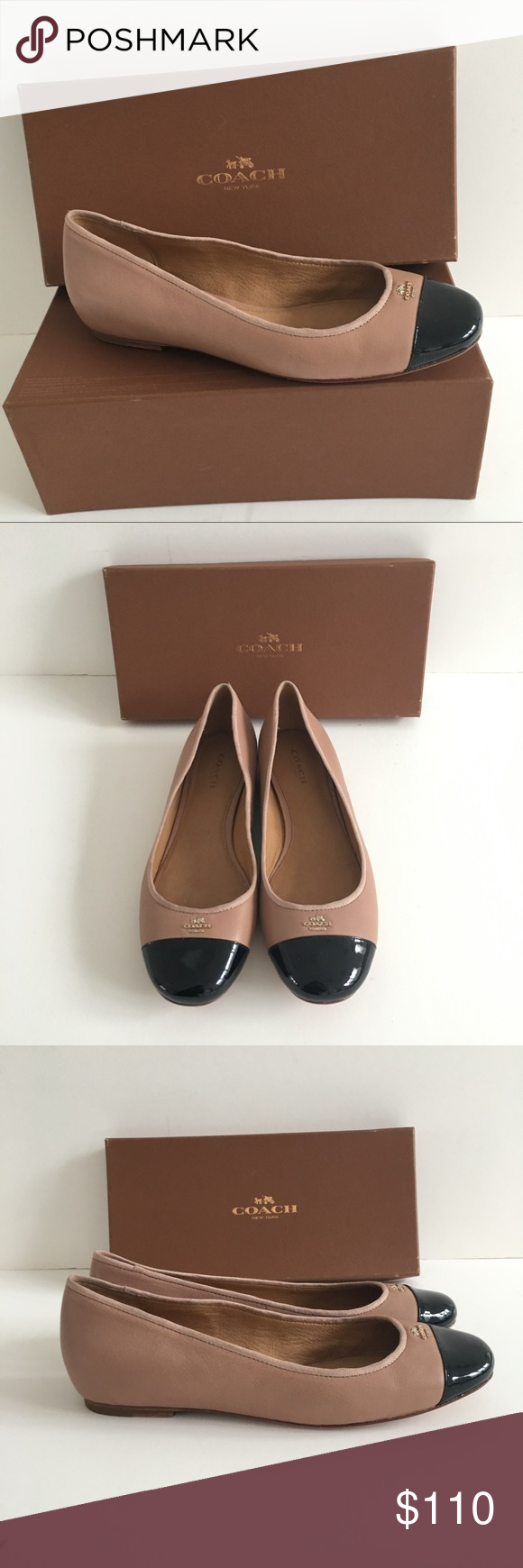 5624e05d8 New Coach Samantha ballet flats Brand new in original box. Made from a soft  nice quality leather in a perfect hue of Nude/ Blush.