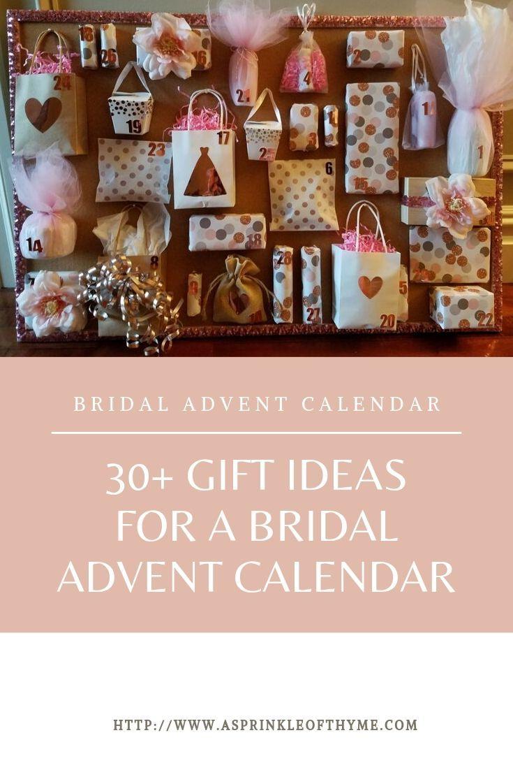 Bridal Advent Countdown Calendar Gift Ideas