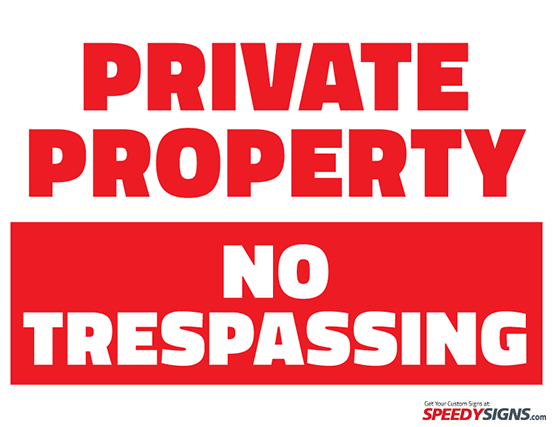 Free Private Property No Trespassing Printable Sign Template | Free ...