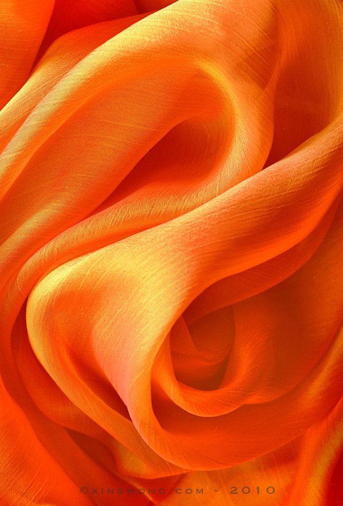 Swirl of orange