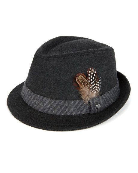 fb1be2e74e7 Contrast band trilby hat - Gray