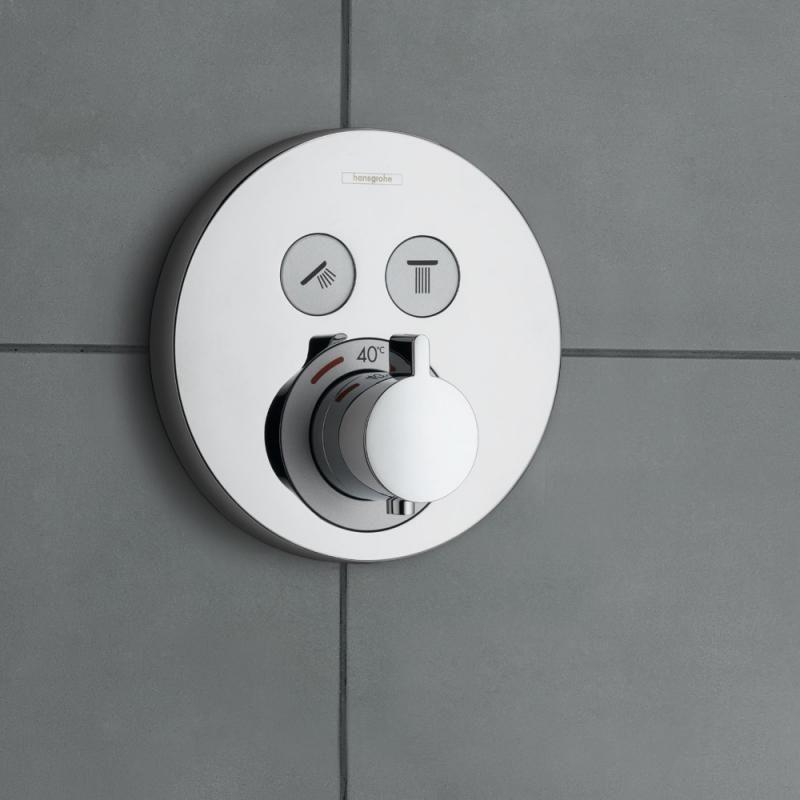 Hansgrohe ShowerSelect S Thermostat Unterputz, für 2 Verbraucher ...