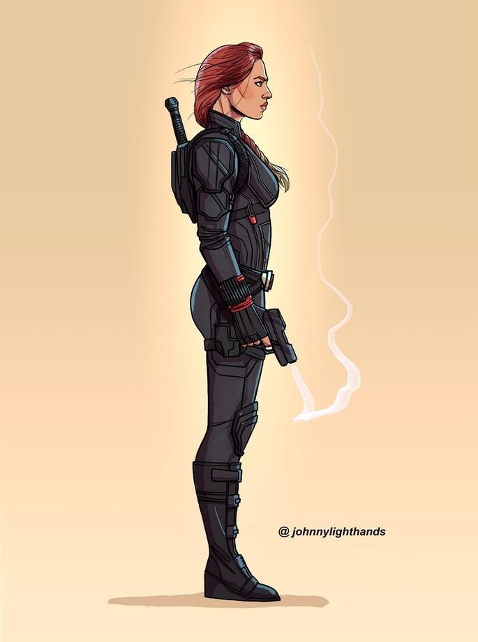 Black Widow, an art print by Johnny Lighthands