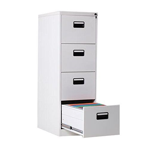 FLYHIGH Lateral Drawer Filing Cabinet 4 Drawers in White Color ...