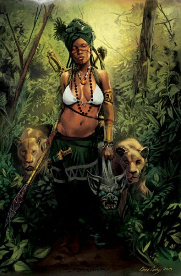 Black Female Warriors With Images Female Art Black Women Art