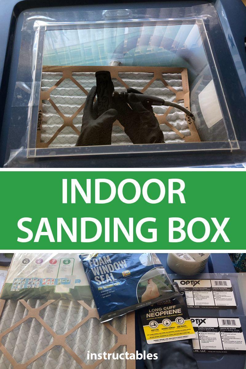DIY Indoor Sanding Box Easy woodworking projects