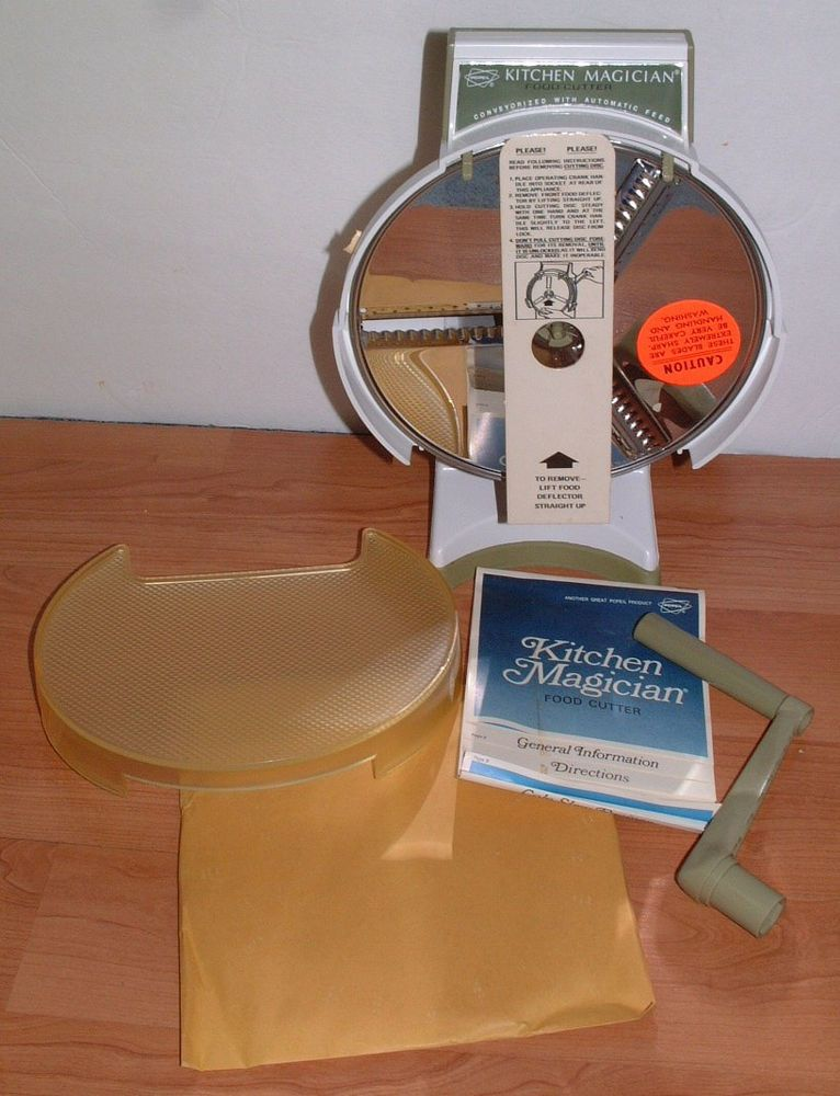 Kitchen Magician Miami Popeil Vintage Food Cutter Slicer Never Used Original Box
