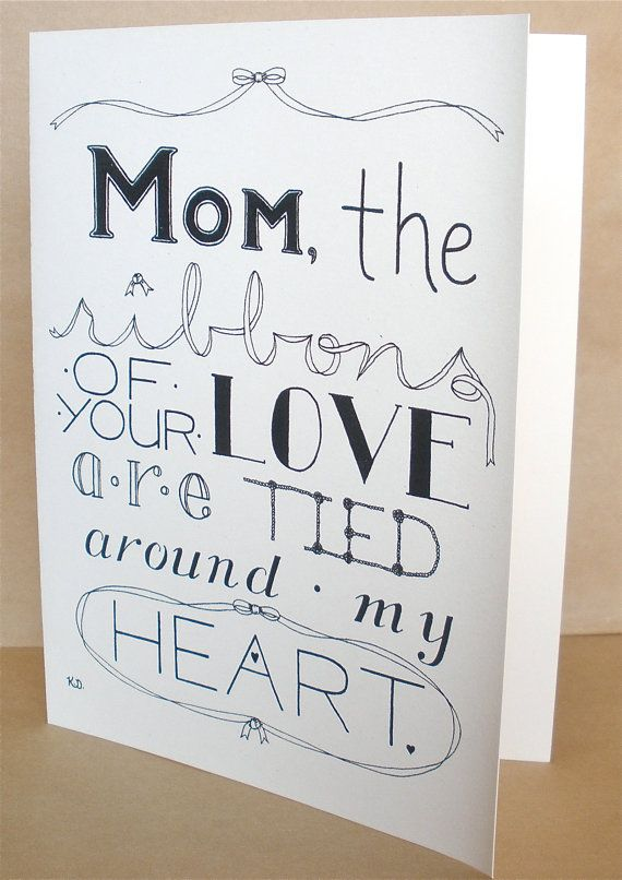 Mother's Day Card, Mom's Day Card. $3.50, via Etsy ...