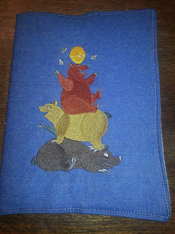 Three Stacked Bears Composition Notebook by northwildwoodgardens, $14.95