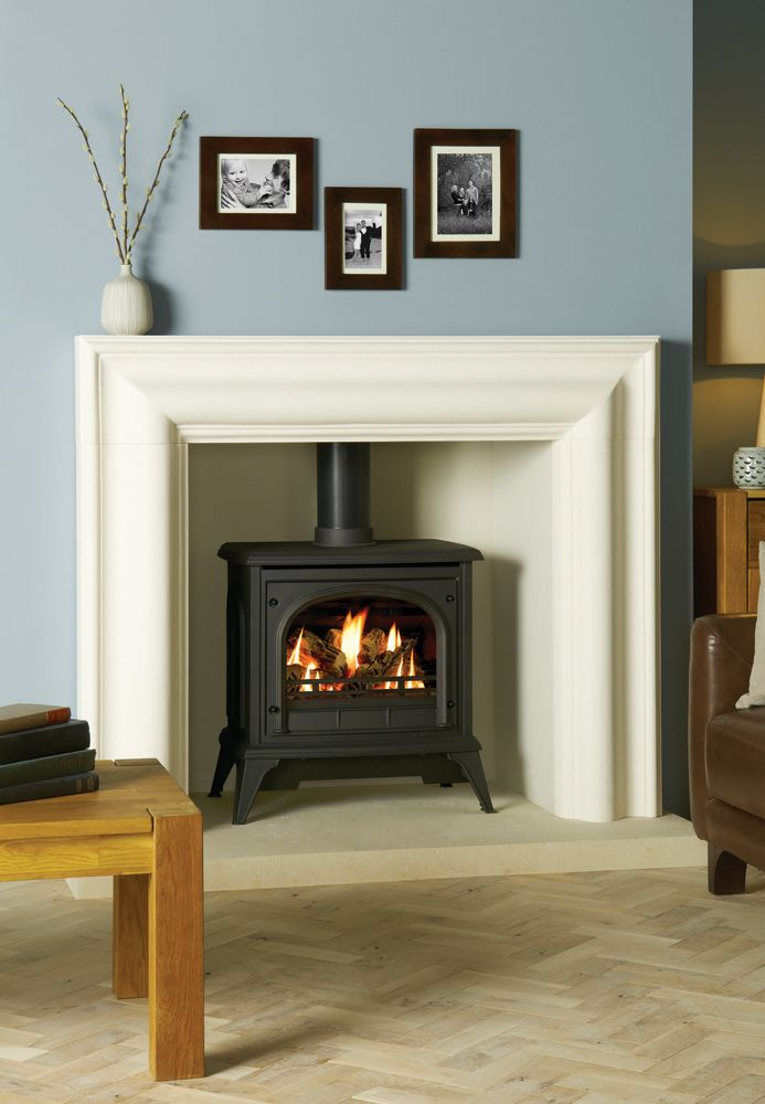 Ashdon Gas Stoves - Clear Door - Gazco Traditional Stoves - Also available in Ivory