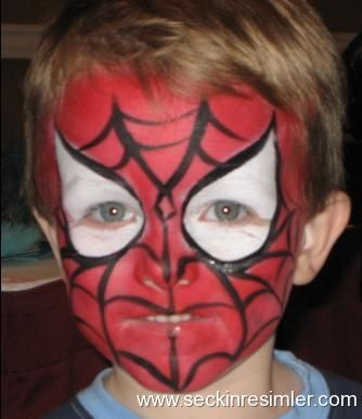 Spider Man Yuz Boyama Face Painting Ve Spiderman