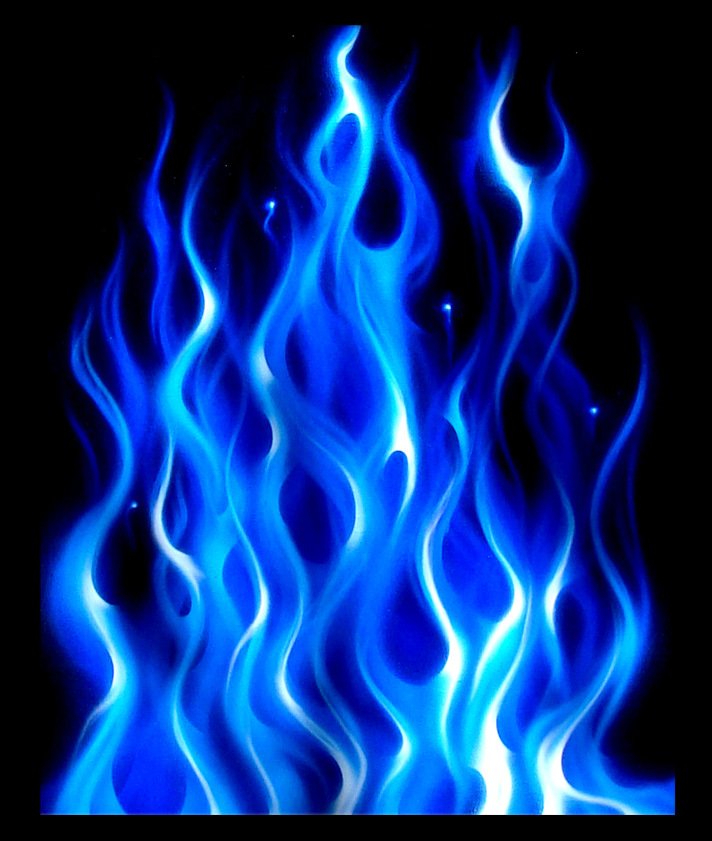 Background Blue Flame By Noseneighbor D73mttv Png Blue Flame Tattoo Air Brush Painting Flame Art