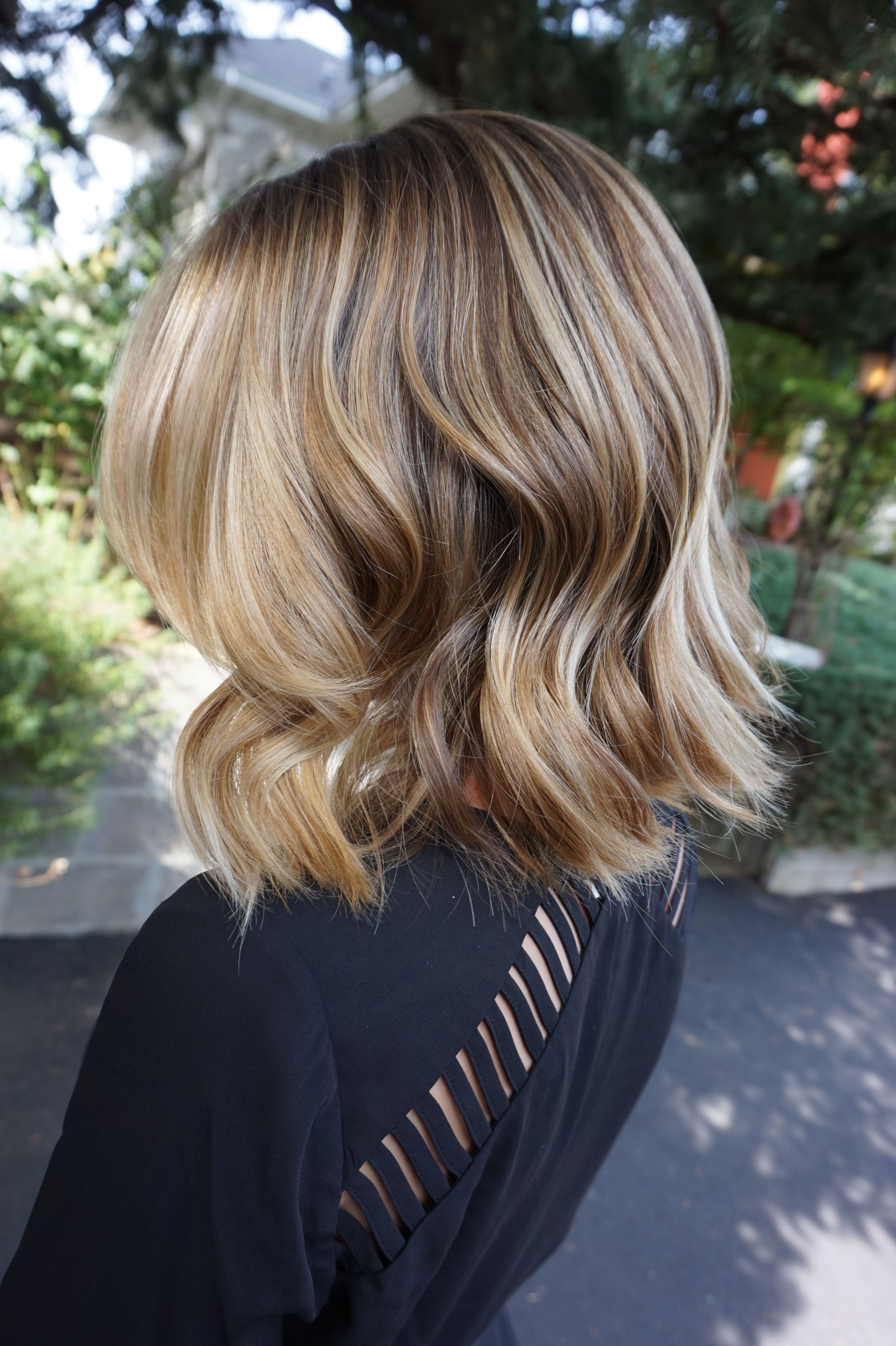 Dimensional honey blondebronde balayage hair by abigail walston