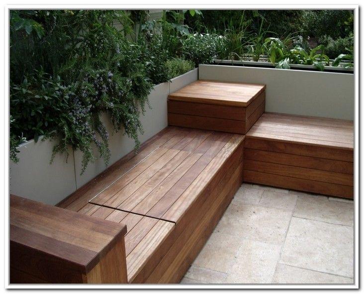 Outdoor Waterproof Storage Bench Foter Built In Garden Seating