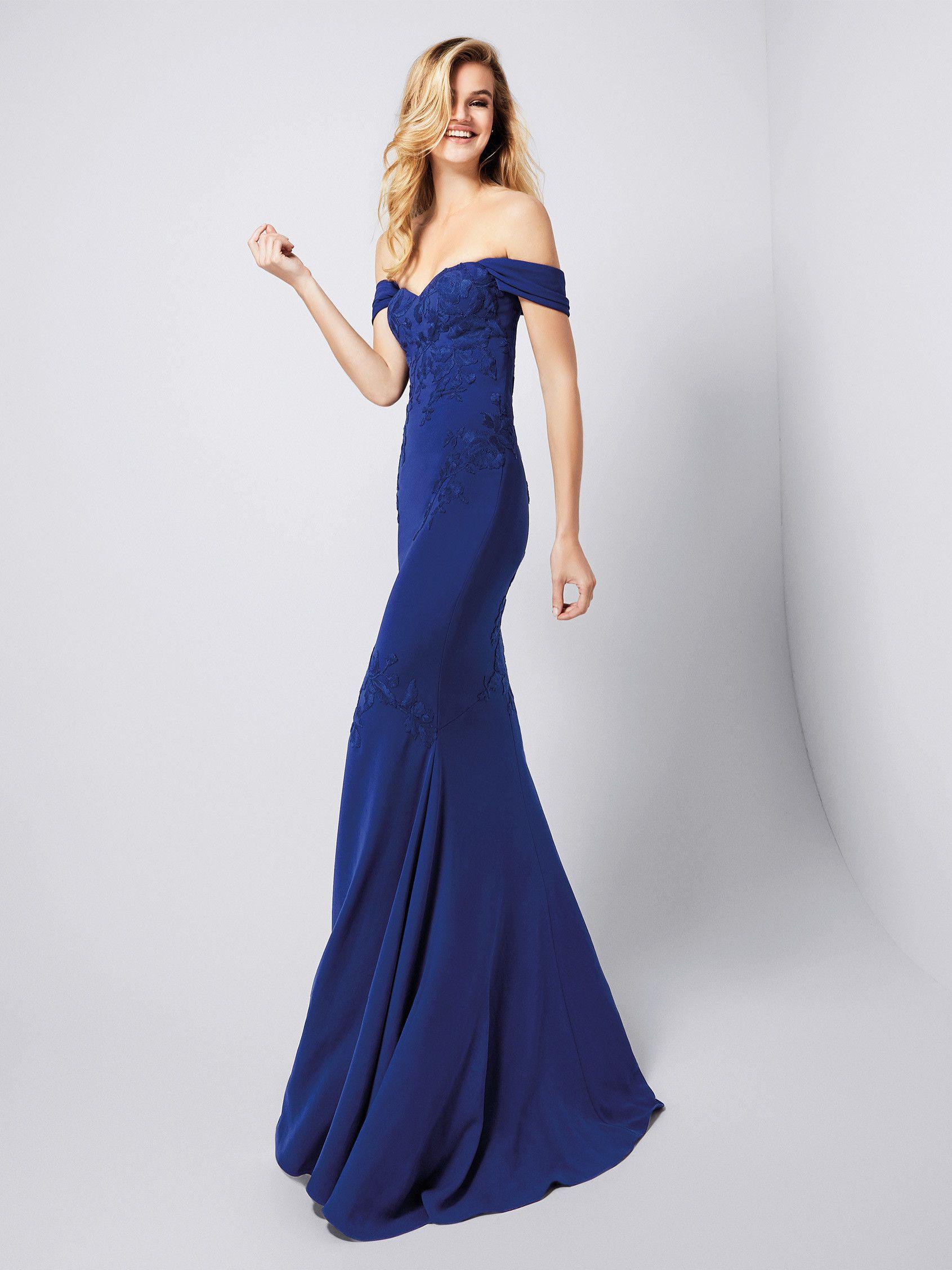 Vestidos de gala de color azul