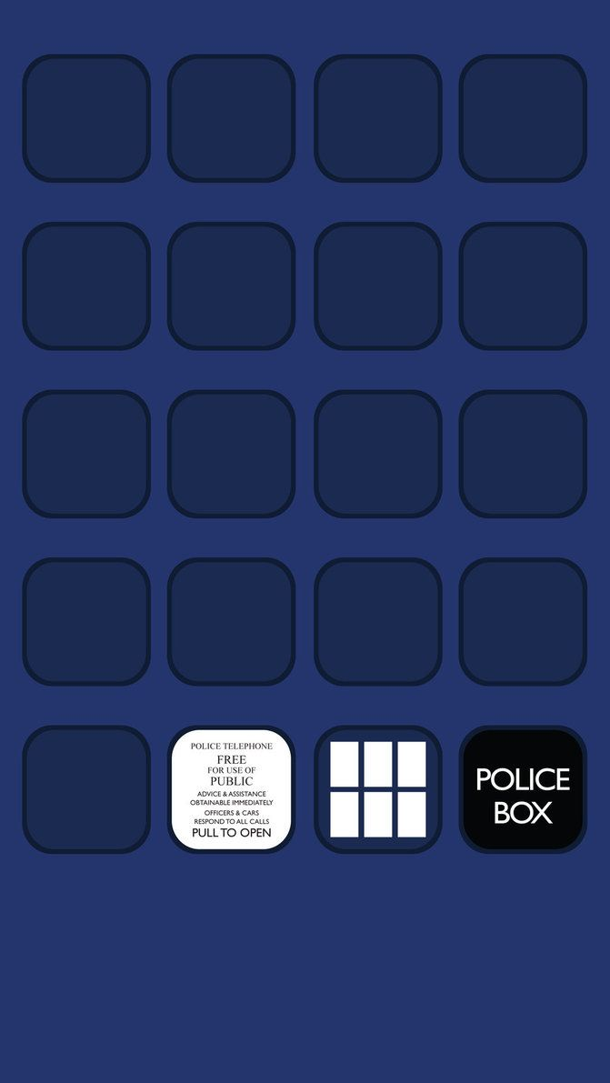 iphone 5 wallpaper 2 - tardis (doctor who) | just the doctor