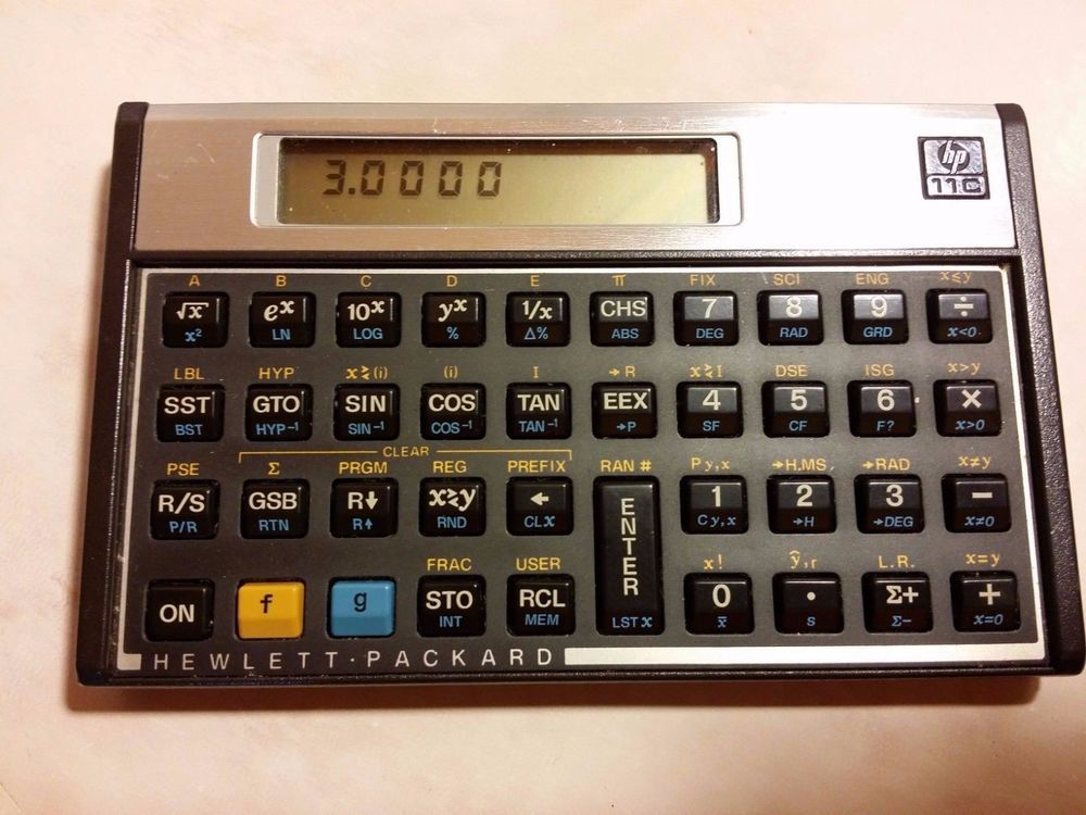 Vintage Hewlett Packard Hp 11c Scientific Calculator W Case Works Hp Computing Taschenrechner