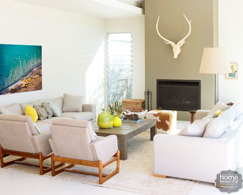 love the deer head above the fireplace