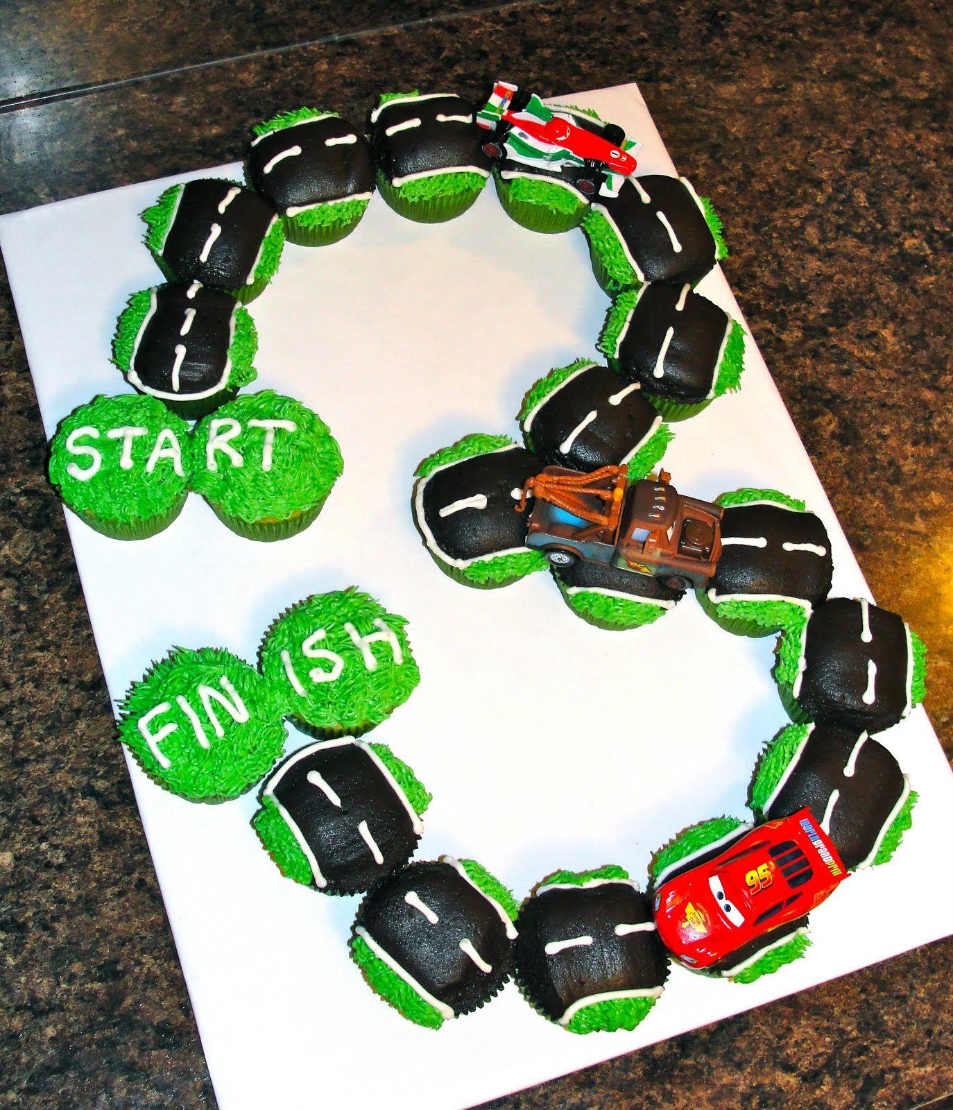 Race Track Cupcake Creation So Cute For My Nephew